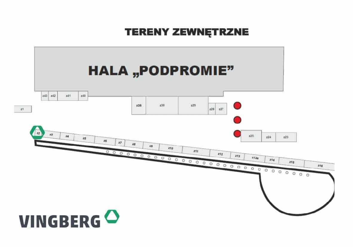 23 Targi Budownictwa w Rzeszowie Vingberg - lokalizacja stoiska