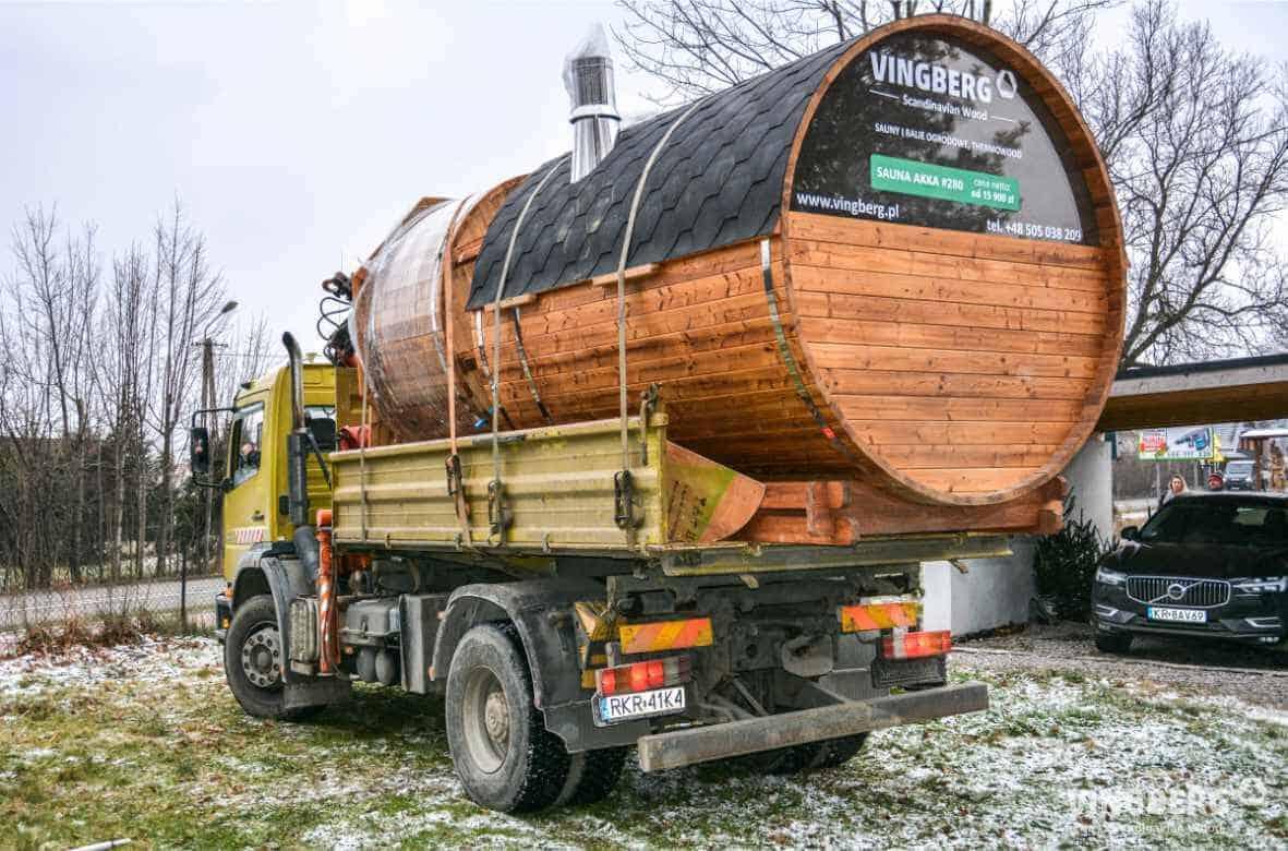 Transport sauny ogrodowej