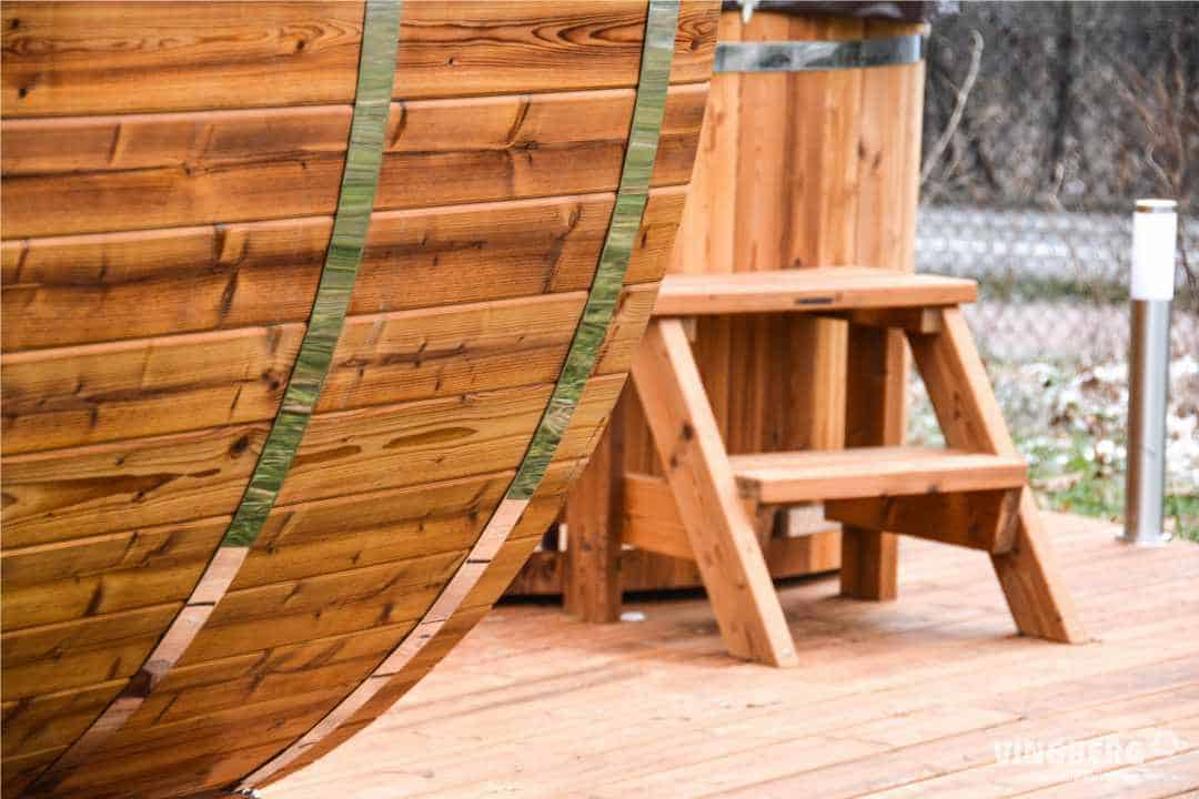 Realizacja Vingberg Sauna Akka #280, Balia Norra #185, ThermoWood®