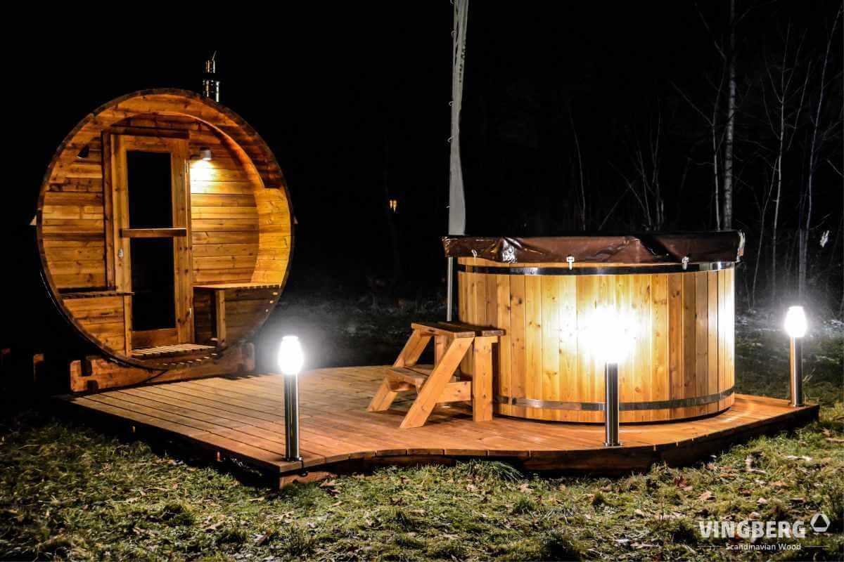 Zestaw Akka Comfort Vingberg ThermoWoodRealizacja Vingberg Sauna Akka #280, Balia Norra #185, ThermoWood®