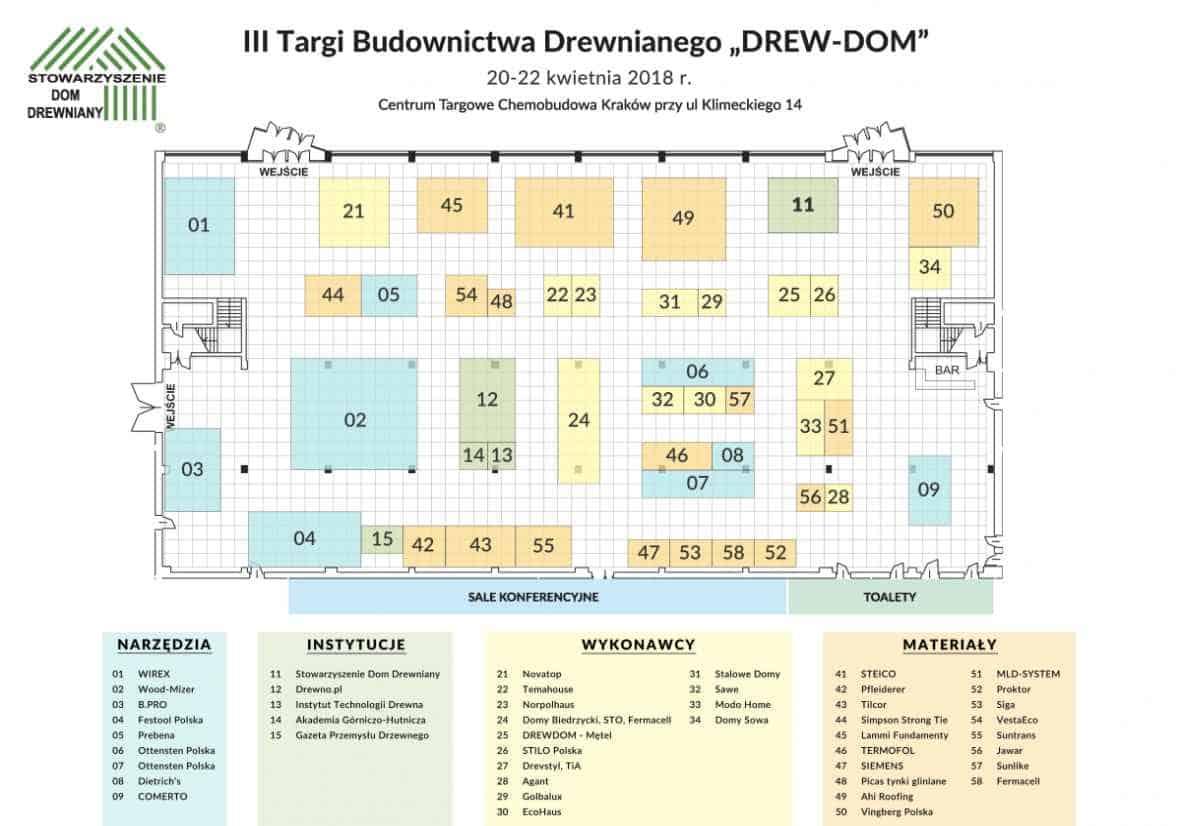 """3 targo Budownictwa Drewnianego """"Drew-Dom"""" w Krakowie, Vingberg - lokalizacja stoiska"""