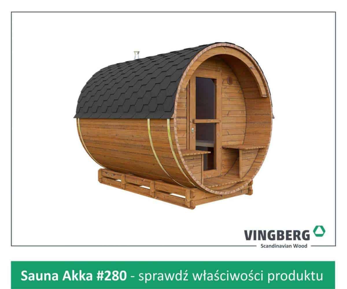Sauna zewnętrzna Akka #280 ThermoWood®