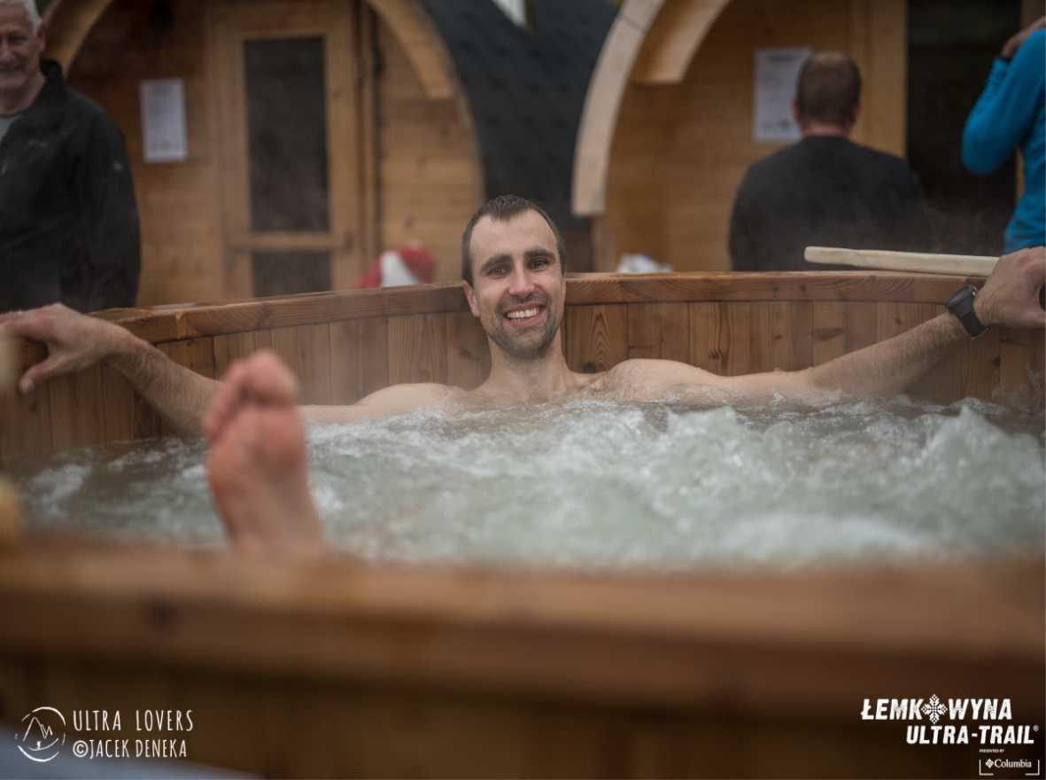 Kąpiel w balii Norra #185 ThermoWood® podczas Łemkowyna Ultra-Trail® 2017