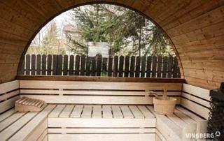 Wnętrze sauny Akka #280 ThermoWood®, ceber z chochlą