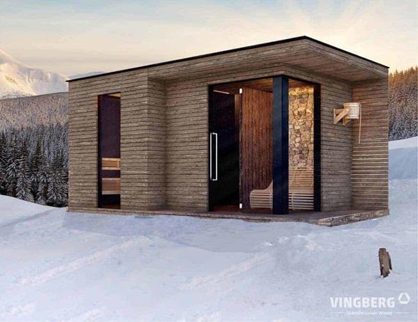 Wizualizacja sauny nowoczesnej Scandic
