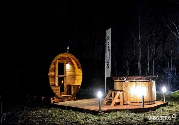 Sauna z ThermoWood w zestawie ogrodowym