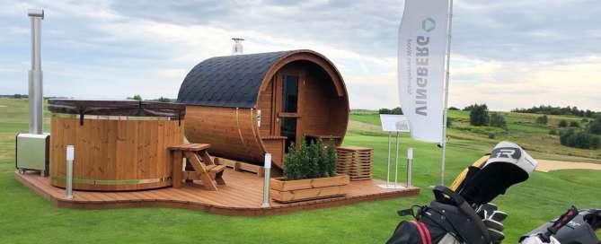 Zestaw sauna + balia Vingberg na polu golfowym pod Krakowem