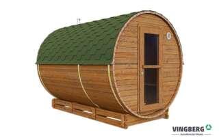 Sauna zewnętrzna z drewna termowanego