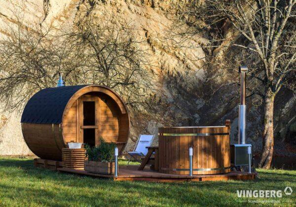 Sauna i balia ogrodowa wykonane z najwyższej jakości materiału- Thermowood