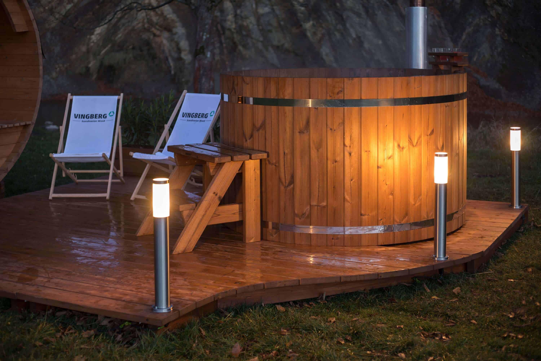 Drewniana balia do sauny i ogrodu Vingberg