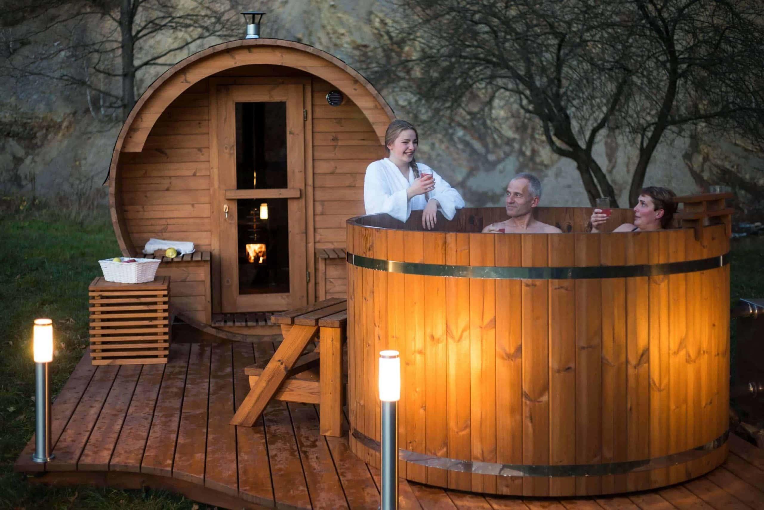 Drewniane balie do sauny i ogrodu
