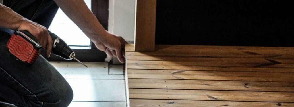Drewniany podest z ThermoWood- montaż