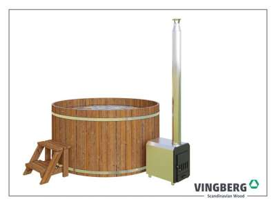 Hot tub VINGBERG made from ThermoWood