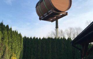Umiejscowienie sauny w trudnym terenie