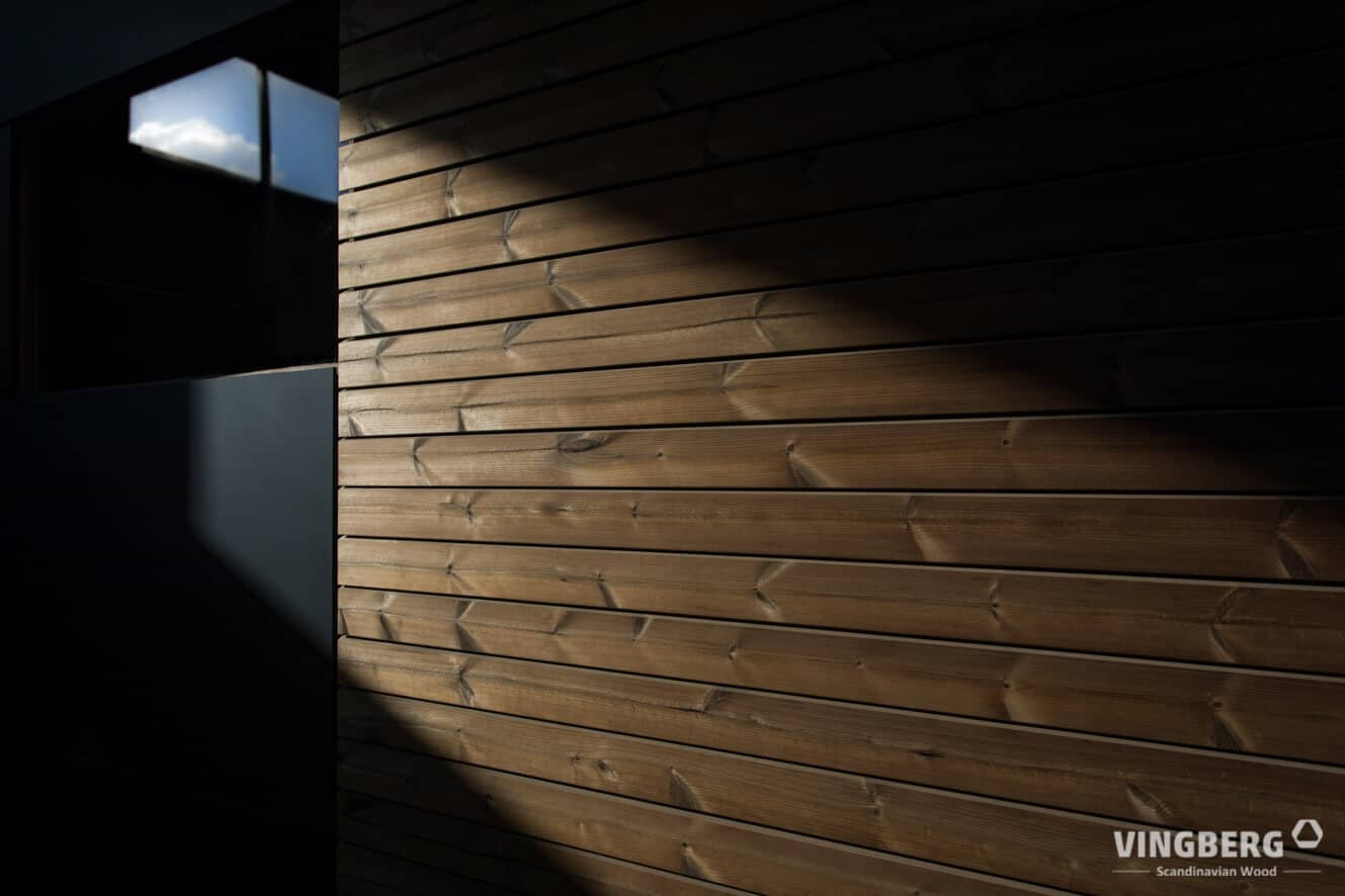 Gared sauna- elevation panels from ThermoWood