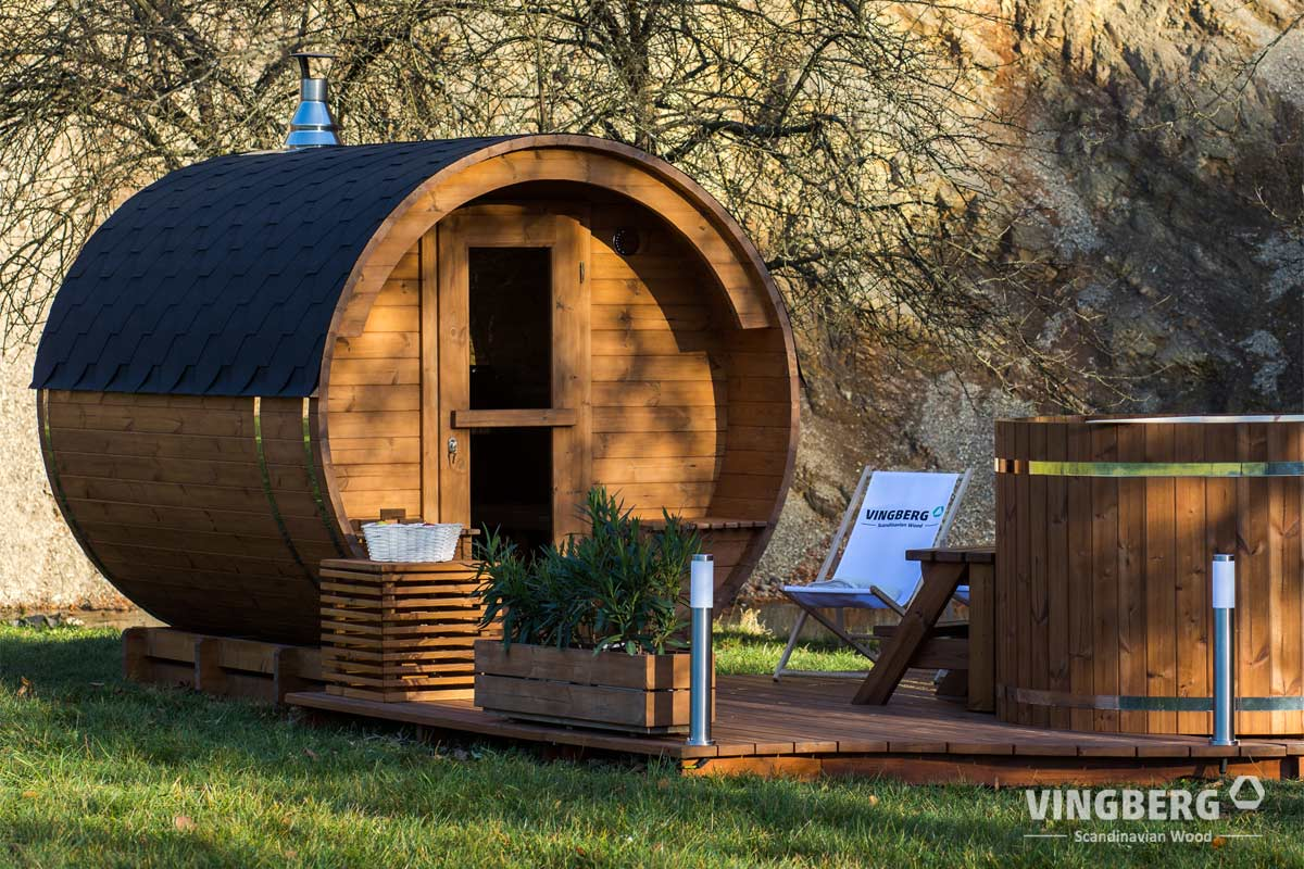 Fantastyczny Sauny ogrodowe, drewniana sauna beczka ZH15