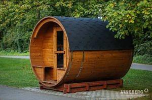 Sauna zewnętrzna do użytku w ogrodzie