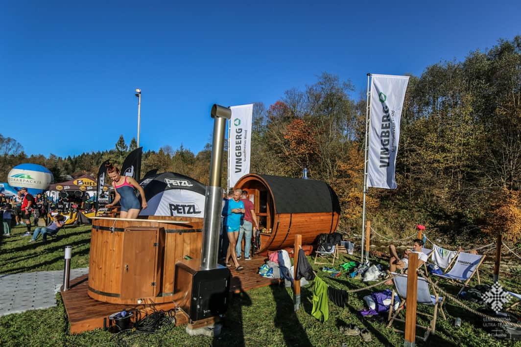 Strefa relaksu z sauna i balią ogrodową Vingberg