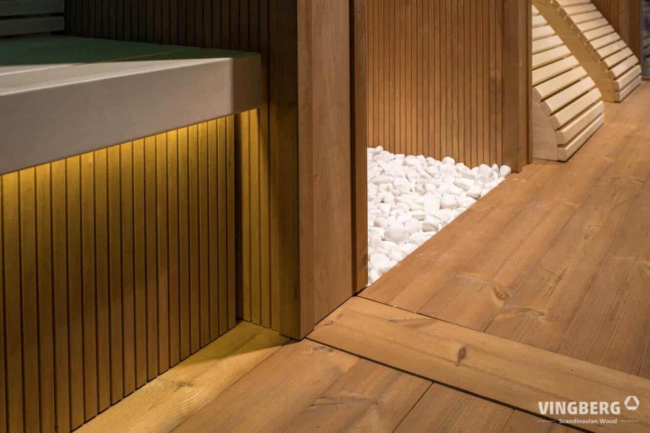 Interior of the modern sauna SCANDIT