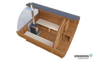 Sauna zewnętrzna do ogrodu - drewno ThermoWood®