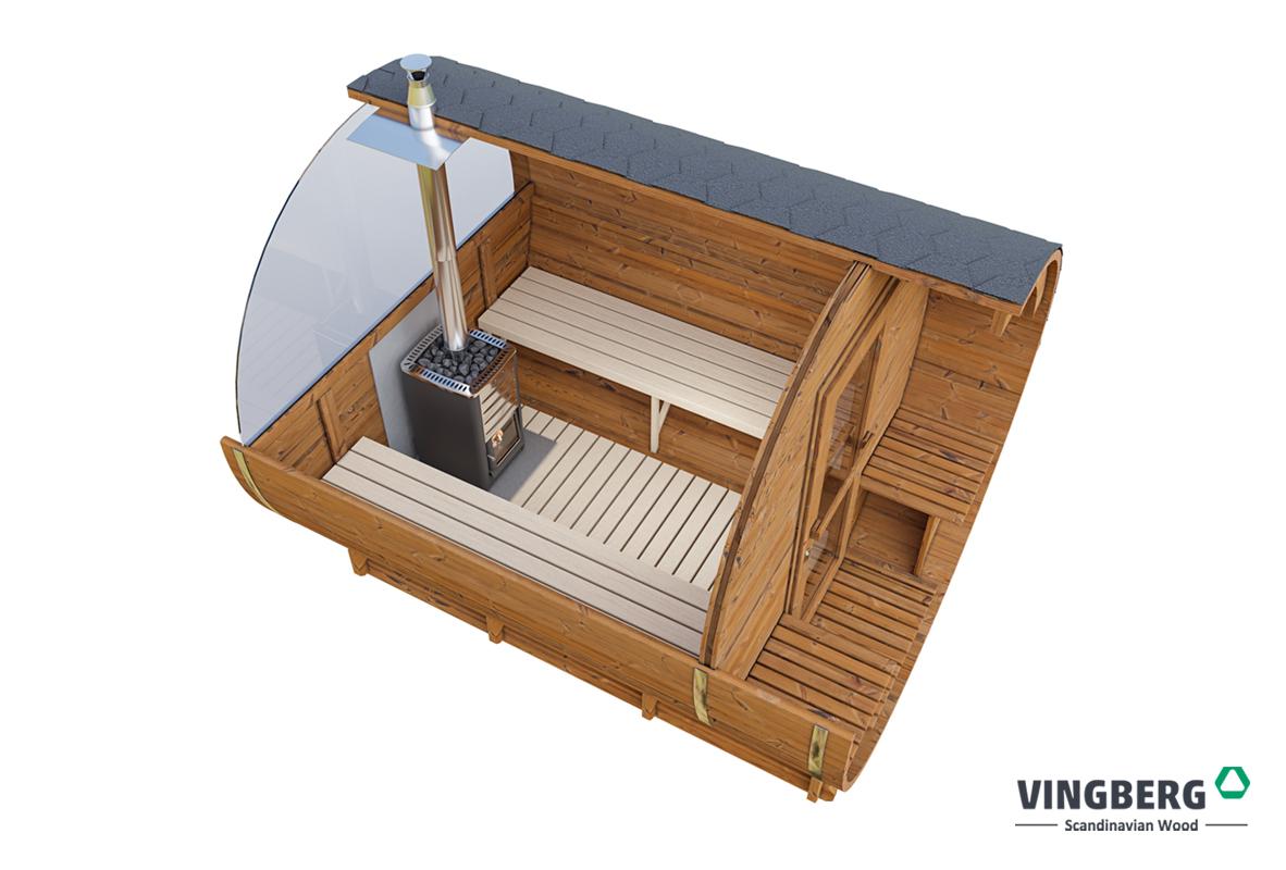 Sauna zewnętrzna do ogrodu- drewno ThermoWood