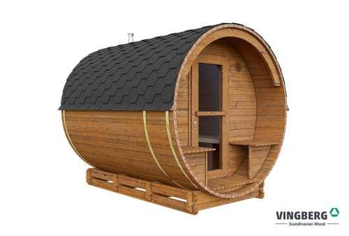 Drewniana sauna ogrodowa z termowanej sosny fińskiej