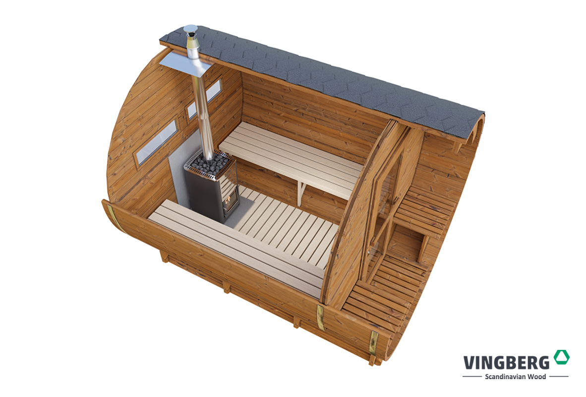 Sauna do ogrodu, drewno termowane