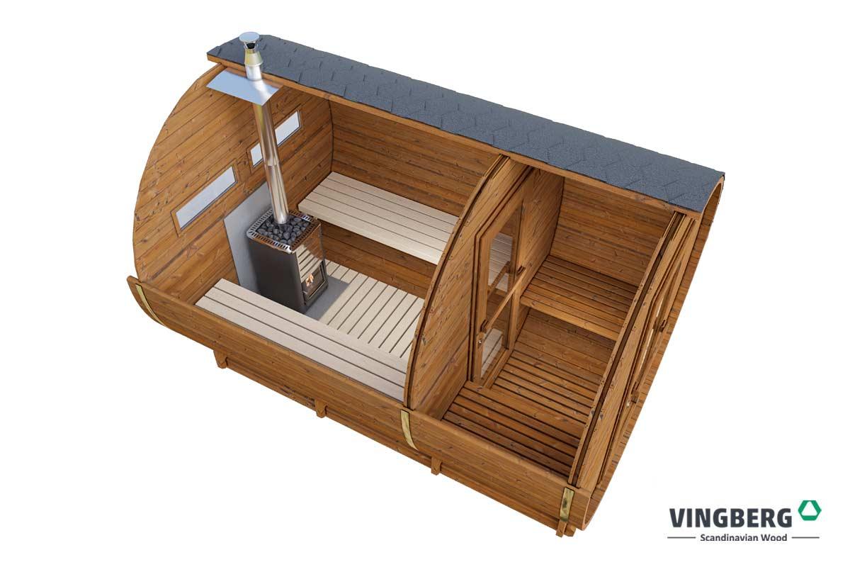 Sauna ogrodowa- beczka
