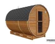 Sauna beczka z termowanej sosny fińskiej