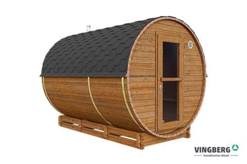 Sauna beczka z termowanej sosny fińskiej Akka #330