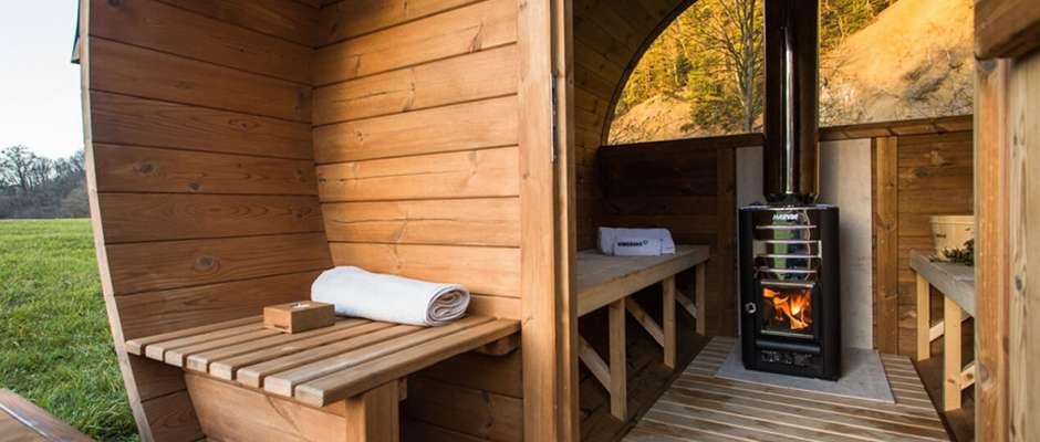 Sauna ogrodowa Akka wewnątrz