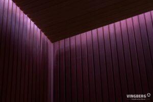 Zewnętrzna sauna nowoczesna- wnętrze
