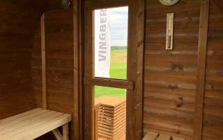 Drewniana sauna ogrodowa Akka #280 ThermoWood® Vingberg