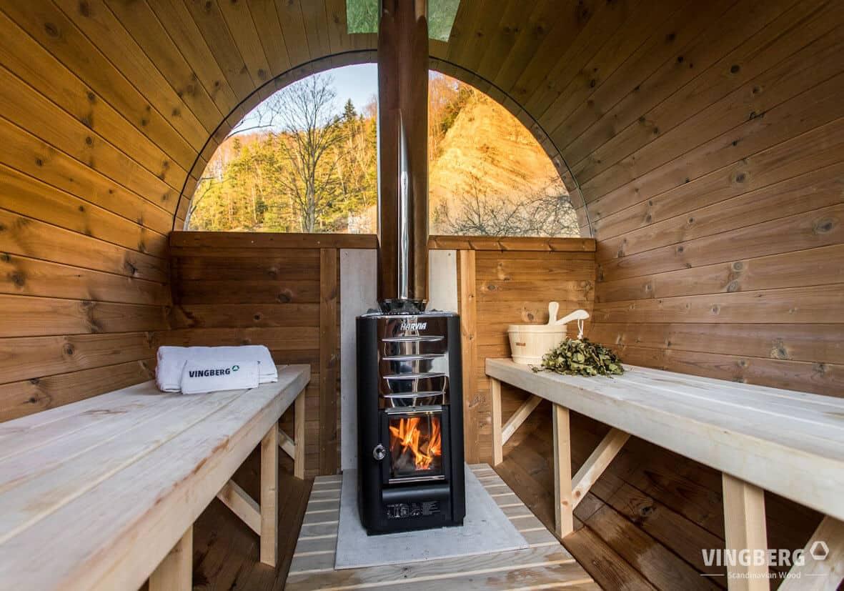 Harvia - fiński piec do sauny opalany drewnem