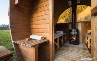Sauna ogrodowa Akka Vingberg wnętrze