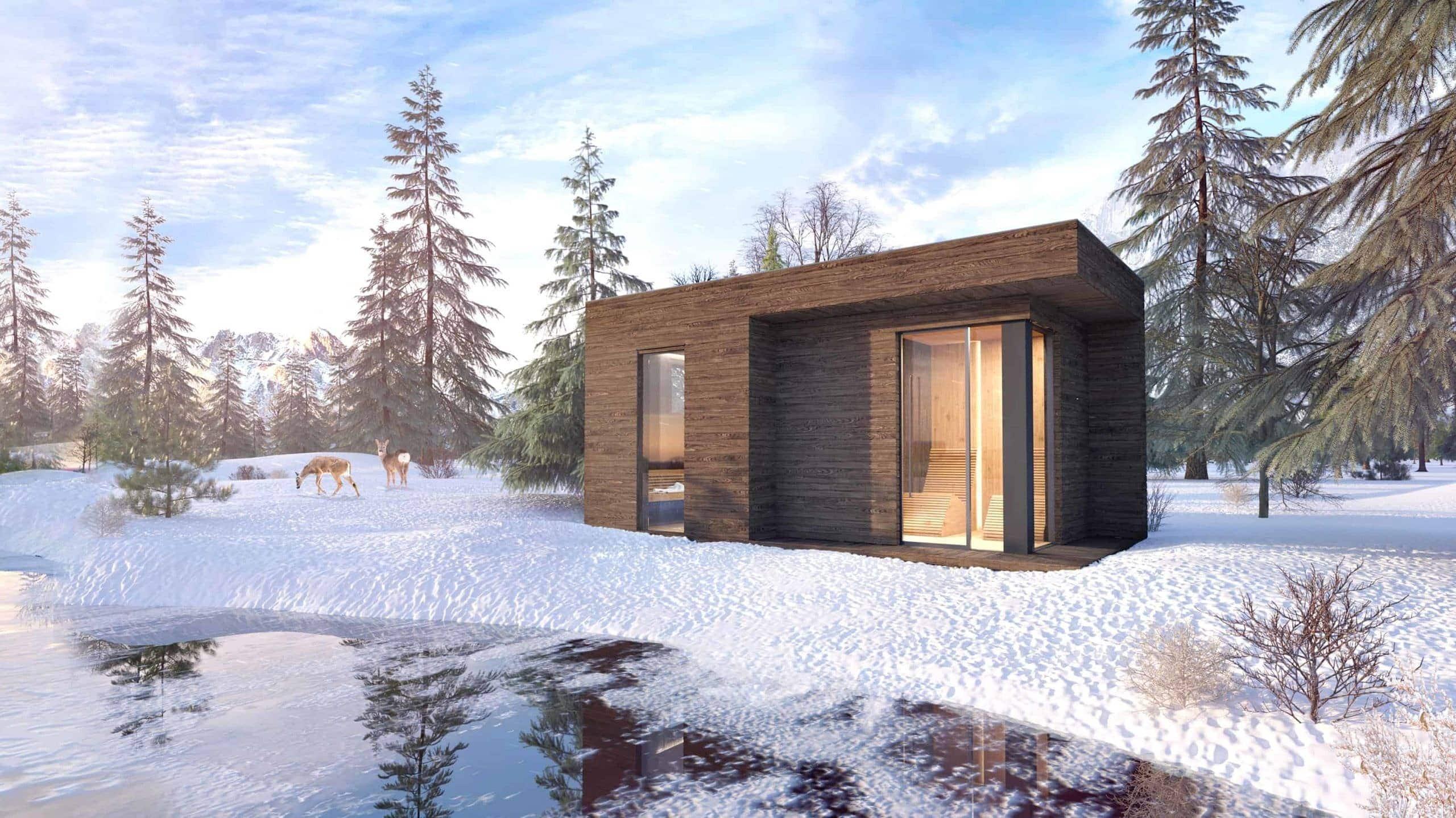 Nowoczesna sauna ogrodowa SCANDIT - produkt klasy premium