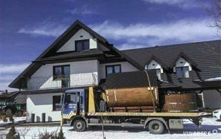 Transport zestawu Akka Comfort: sauny Akka #280, balii Norra #185 do Smereka