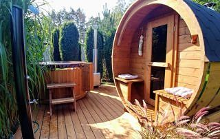 Zestaw sauna i balia ogrodowa Akka Comfort ThermoWood®