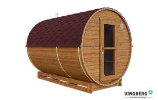 Sauna do ogrodu z drewna termowanego