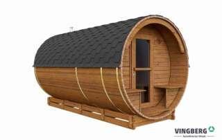 Sauna zewnętrzna z ThermoWood, Akka #420