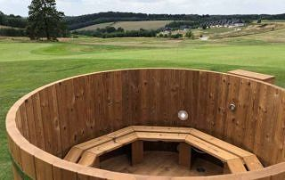 Wooden hot tub made from Thermowood