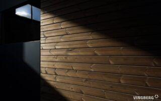 Elewacja z ThermoWood - Sauna nowoczesna SCANDIT