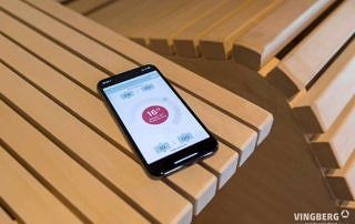 Nowoczesna sauna Scandit -aplikacja do sterowania piecem HUUM
