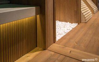 Wyposażenie sauny nowoczesnej- panele z Thermowood