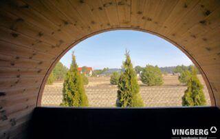 Półokrągłe okno panoramiczne sauna AKKA