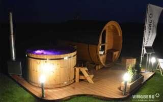 Sauna and hot tub in Akka Comfort set