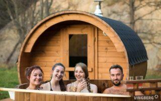 Sauna i balia ogrodowa w zestawie z drewna Thermowood